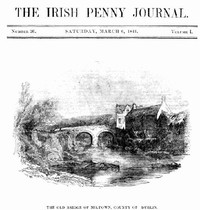 Cover of The Irish Penny Journal, Vol. 1 No. 36, March 6, 1841