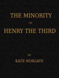 Cover of The Minority of Henry the Third