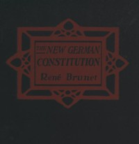 Cover of The New German Constitution