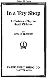 Cover of In a Toy Shop: A Christmas Play for Small Children
