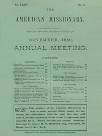 The American Missionary, Volume 34, No. 11, November 1880