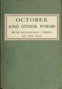 Cover of October, and Other Poems; with Occasional Verses on the War