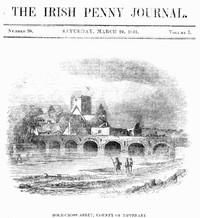 Cover of The Irish Penny Journal, Vol. 1 No. 38, March 20, 1841