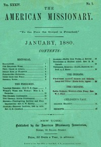 The American Missionary — Volume 34, No. 1, January, 1880