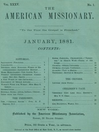 The American Missionary — Volume 35, No. 1, January, 1881