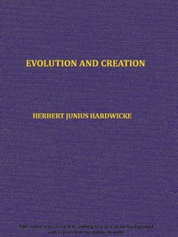 Cover of Evolution and creation