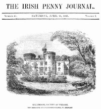 Cover of The Irish Penny Journal, Vol. 1 No. 41, April 10, 1841