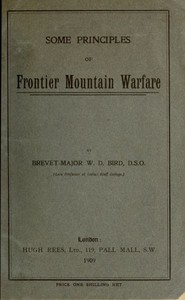 Cover of Some Principles of Frontier Mountain Warfare