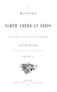 A History of North American Birds; Land Birds; Vol. 2 of 3