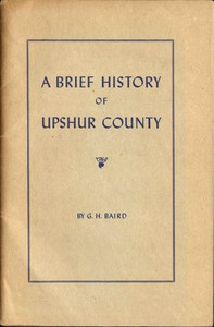 Cover of A Brief History of Upshur County