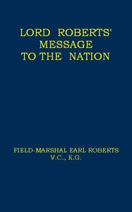 Cover of Lord Roberts' Message to the Nation