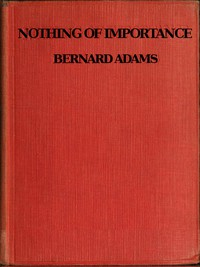 Cover of Nothing of Importance A record of eight months at the front with a Welsh battalion, October, 1915, to June, 1916