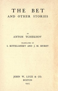 Cover of The Bet, and other stories