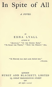 Cover of In Spite of All: A Novel