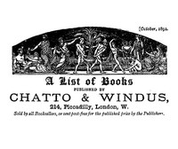 A list of books published by Chatto & Windus, October 1892