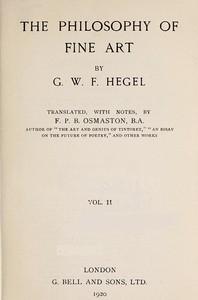Cover of The Philosophy of Fine Art, volume 2 (of 4)Hegel's Aesthetik