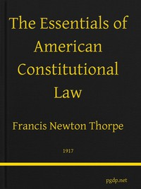 Cover of The Essentials of American Constitutional Law