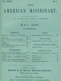 The American Missionary — Volume 35, No. 5, May, 1881