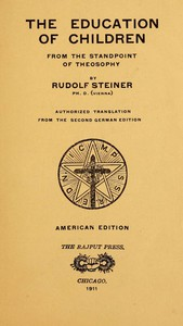 Cover of The Education of Children from the Standpoint of Theosophy