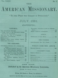 Cover of The American Missionary — Volume 35, No. 7, July, 1881