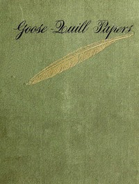 Cover of Goose-Quill Papers