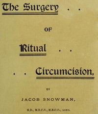 Cover of The Surgery of Ritual Circumcision