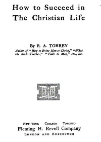 Cover of How to Succeed in the Christian Life