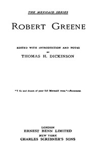 Robert Greene: [Six Plays]