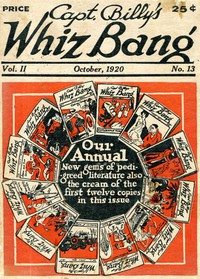 Cover of Captain Billy's Whiz Bang, Vol. 2. No. 13, October, 1920America's Magazine of Wit, Humor and Filosophy
