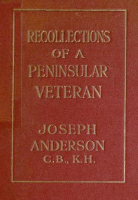 Cover of Recollections of a Peninsular Veteran