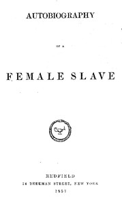 Cover of Autobiography of a Female Slave