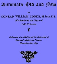 Cover of Automata Old and New