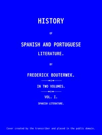 Cover of History of Spanish and Portuguese Literature (Vol 1 of 2)