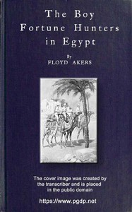 Cover of The Boy Fortune Hunters in Egypt