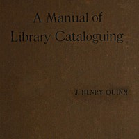 Cover of Manual of Library Cataloguing