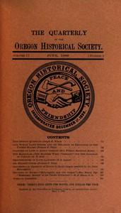 The Quarterly of the Oregon Historical Society (Vol. I, No. 2)