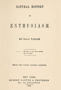 Cover of Natural History of Enthusiasm