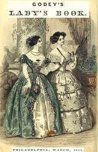 Cover of Godey's Lady's Book, Philadelphia, Volume 48, March, 1854