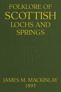 Cover of Folklore of Scottish Lochs and Springs