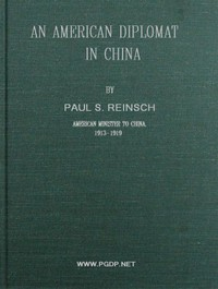 Cover of An American Diplomat in China