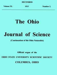 Cover of The Ohio Journal of Science. Vol. XVI., No. 2 (December, 1915)