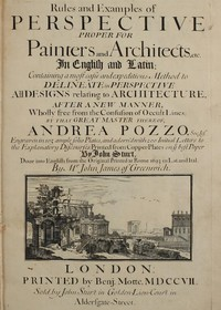 Cover of Rules and Examples of Perspective proper for Painters and Architects, etc. In English and Latin: Containing a most easie and expeditious method to delineate in perspective all designs relating to architecture