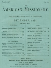 The American Missionary — Volume 35, No. 12, December, 1881