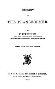 Cover of History of the Transformer
