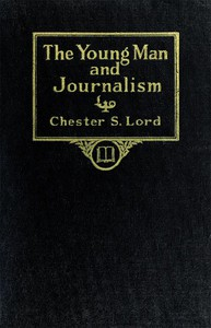 Cover of The Young Man and Journalism