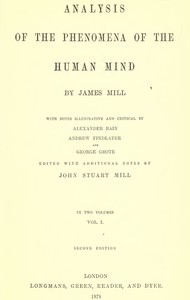 Cover of Analysis of the Phenomena of the Human Mind