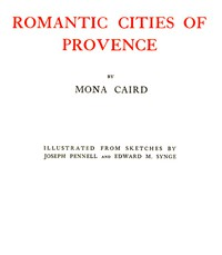 Cover of Romantic Cities of Provence