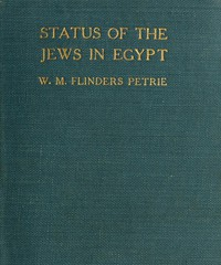 Cover of The Status of the Jews in EgyptThe Fifth Arthur Davis Memorial Lecture