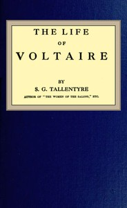 Cover of The life of Voltaire