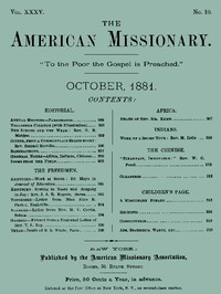 The American Missionary — Volume 35, No. 10, October, 1881